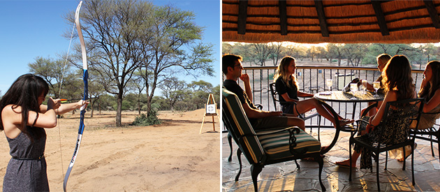okajo, safari lodge, trophy hunting, farm, omaruru, namibia, game lodge, game drives, accommodation, self catering, guest house, archery, health spa, sauna, activities in omaruru